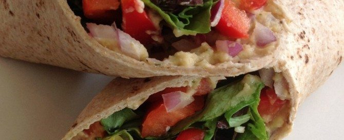 Hummus and veggies add even more fiber to Uncle Wally's delicious Fiber One Wraps