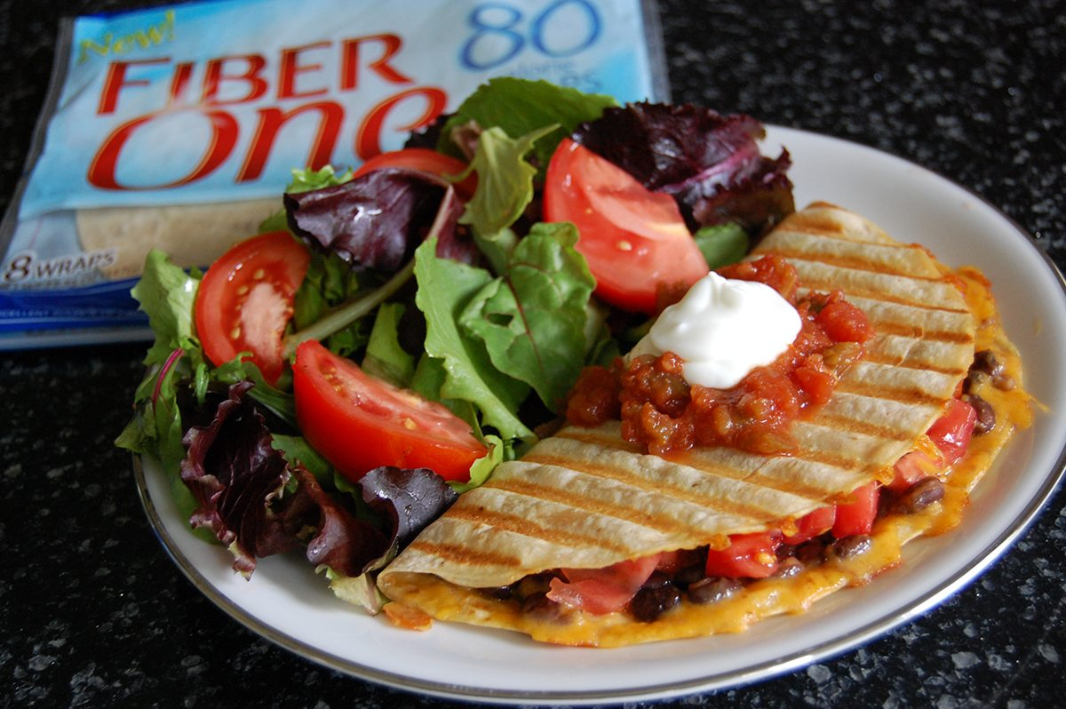 Fiber One Black Bean Quesadilla