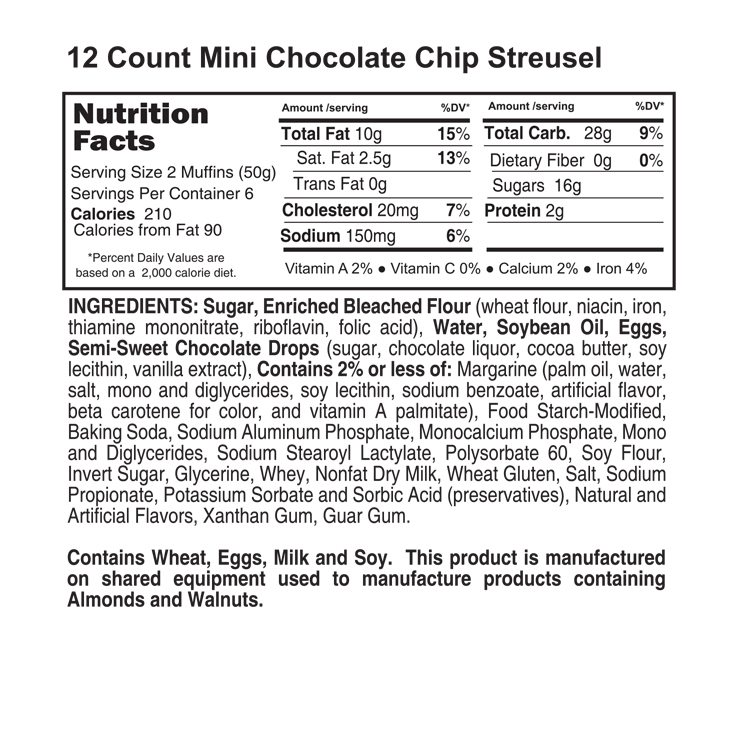 12 count chocolate chip